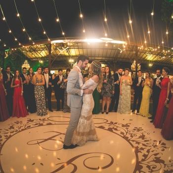 Pista de Dança em Casamento Noturno
